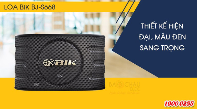Loa BIK BJ-S668, Bass 25cm, Karaoke, Nghe nhạc (Giá: 2 chiếc)